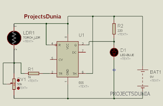 automatic street light controller circuit using ldr