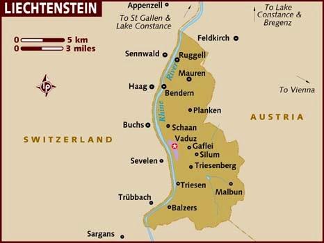 Peta Negara Liechtenstein