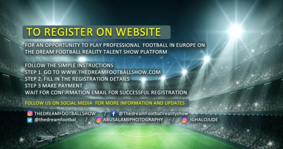 The Dream Football Show registration now open!