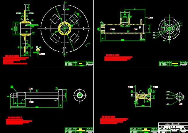 Bản vẽ chi tiết đồ án thiết kế hệ thống ly hợp trên xe con