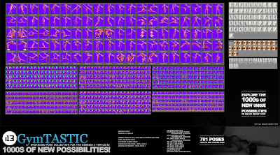 i13 GymTASTIC Pose Collection for the Genesis 3 Female