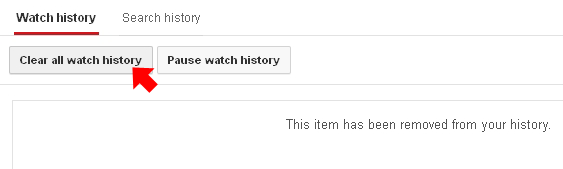 clear all watch history