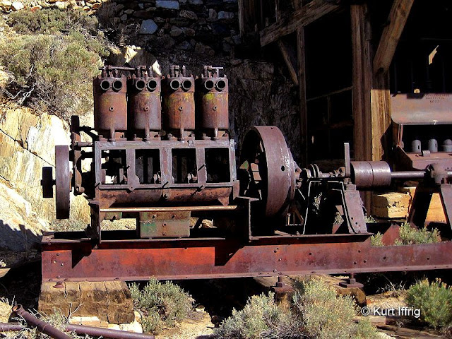 There are several large piece of machinery still remaining at Lost Horse Mine.