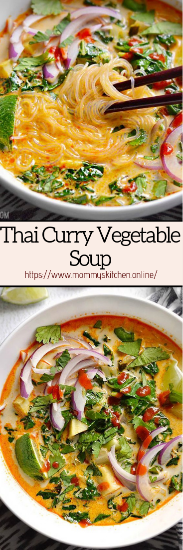 Thai Curry Vegetable Soup #healthyfood #dietketo