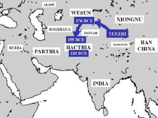 Yuezhi migration from China to Bactria