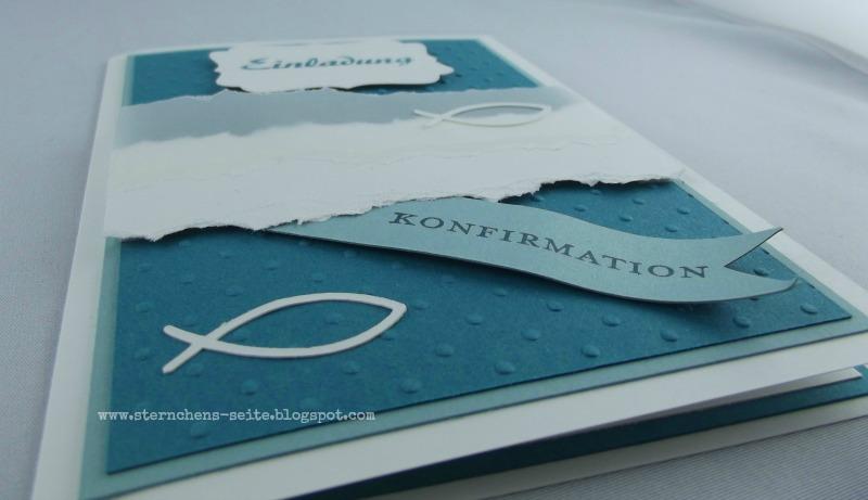 sternchens seite: einladungskarten zur konfirmation, Einladungsentwurf