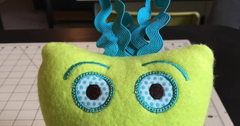 Embroidery Garden Monster Tooth Fairy Pillow