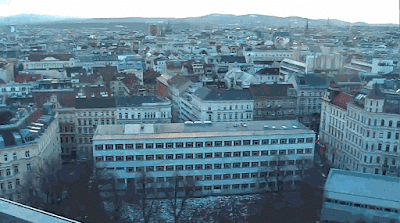 Blick über Wien zum Lainzer Tiergarten