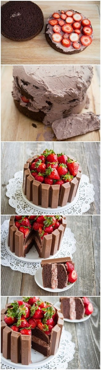 How To Kit Kat Cake All Food Drink