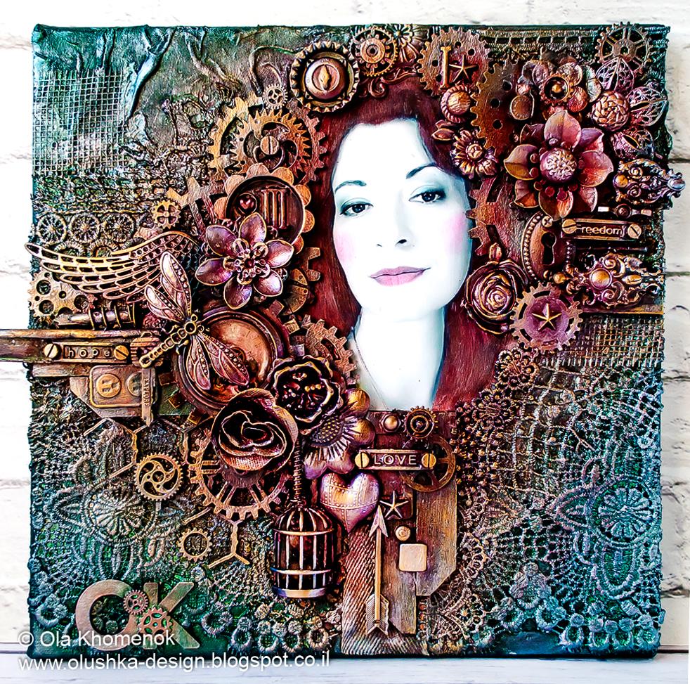 LikeArtStudio by Ola Khomenok: Mixed Media canvas. Self ...