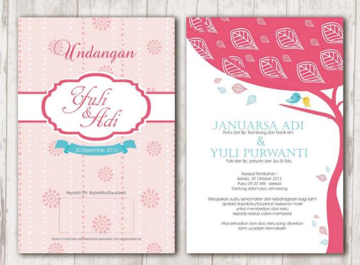 20 desain undangan pernikahan terbaik 2019