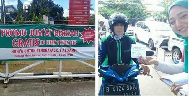 Hafal Surat Al Kahfi, Driver Ojol Ini dapat Hadiah 10 Liter Bahan Bakar Gratis