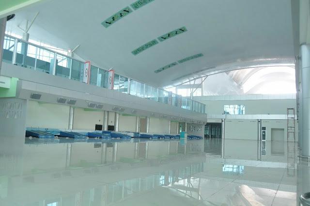 terminal baru bandara tjilik riwut palangkaraya bagian dalam