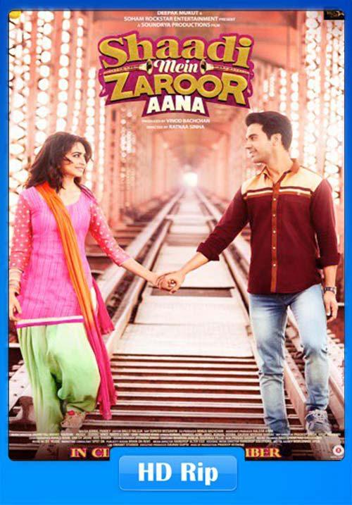 Shaadi Mein Zaroor Aana 2017 Hindi 720p HDRip x264 | 480p 300MB | 100MB HEVC Poster