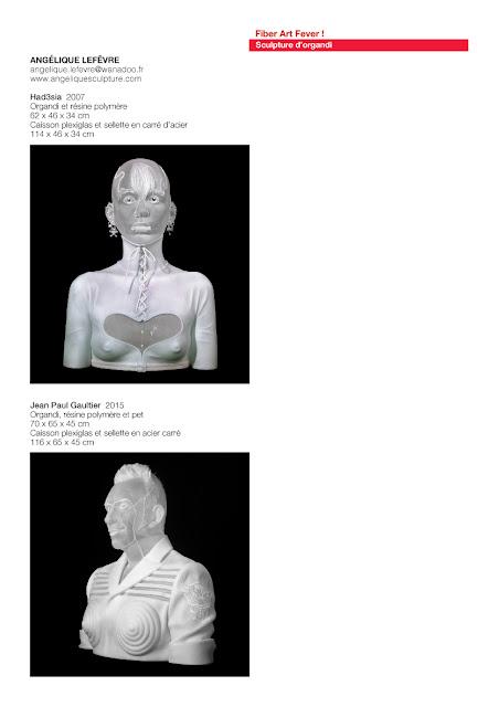 sculpture d'organdi, sculptures textiles, art textile contemporain