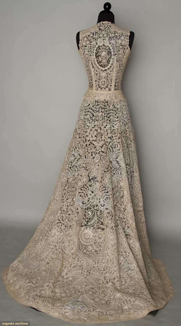 brussels lace gown