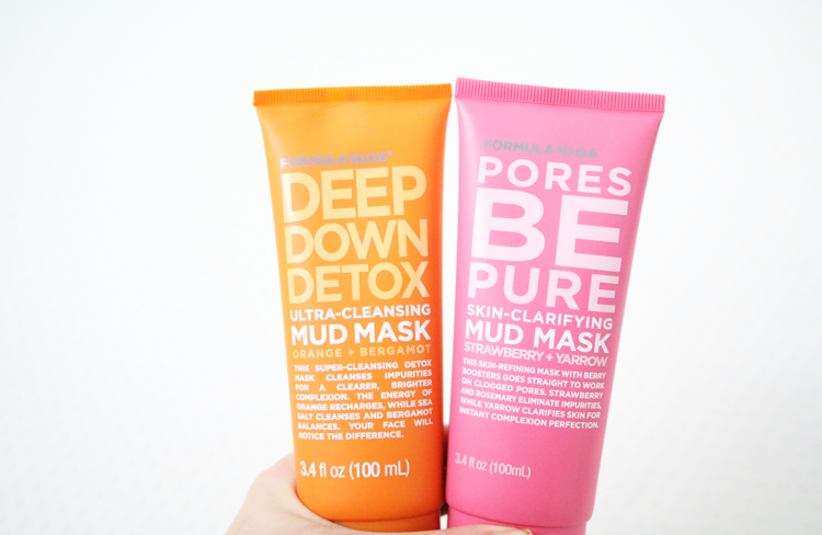 Formula 10.0.06 Deep Down Detox & Pores Be Pure Mud Masks review