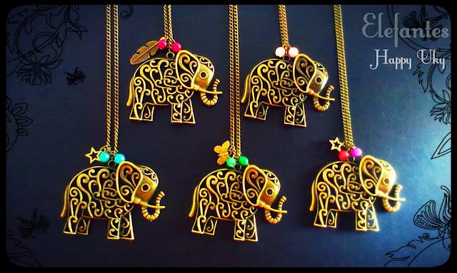 happy uky  complementos collares elefante vintage handmade barcelona