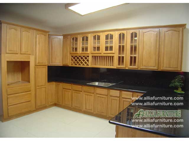 kitchen set klasik kayu jati model java