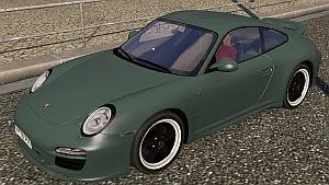 Porsche 911 in traffic