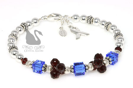 Modular Pulmonary Fibrosis Awareness Bracelet (B096)
