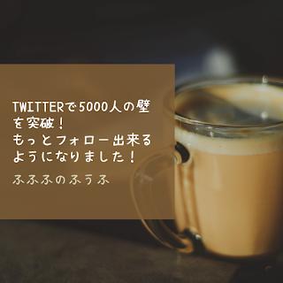 Twitterで5000人の壁を突破!もっとフォロー出来るようになりました!