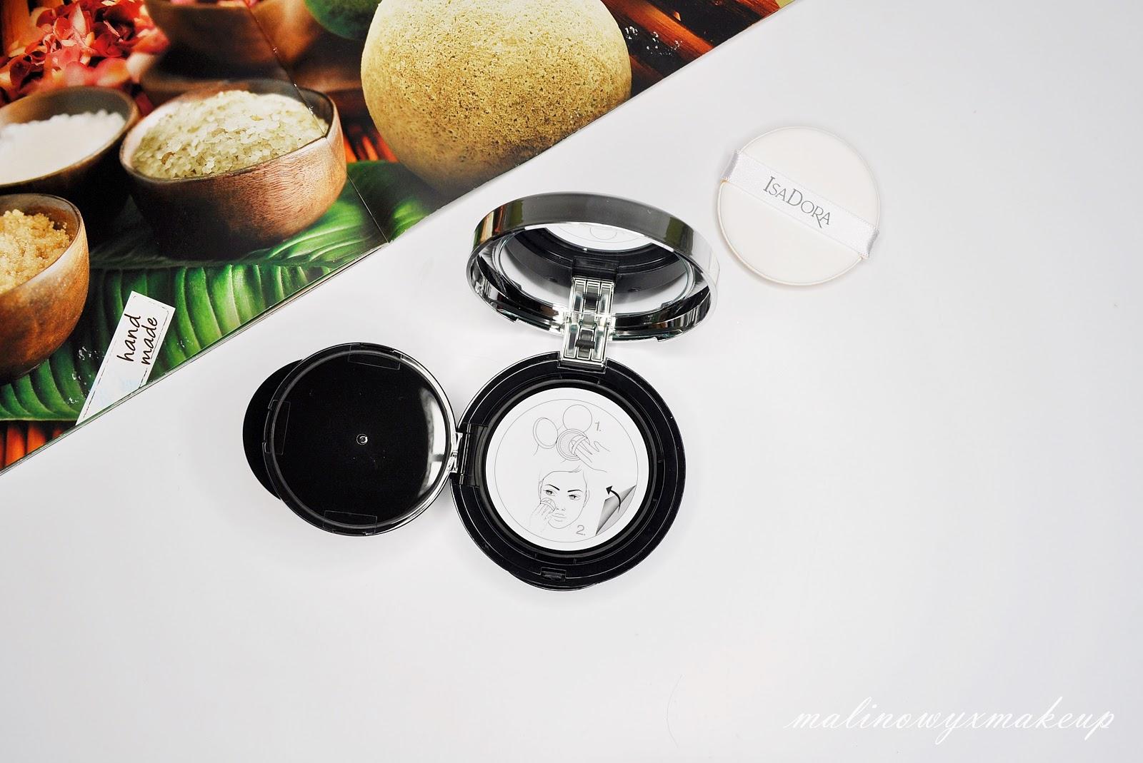isadora nude cushion foundation podkład 13 nude beige podkład w poduszeczce swatch swatche porównanie