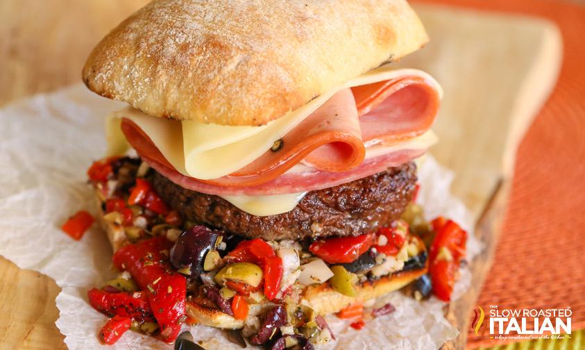 http://theslowroasteditalian-printablerecipe.blogspot.com/2014/08/name-that-burger.html