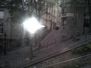 Montmartre Vue du funiculaire sur le quartier de la Butte.