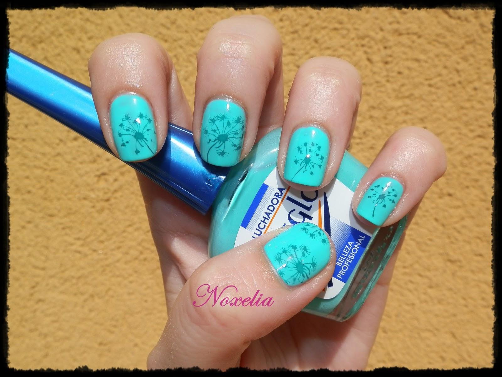Noxelia: Stamping nail art: Look de uñas Nº 375. Luchadora de Masglo