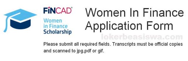Beasiswa Pescasarjana S2 dan S3 FINCAD Women in Finance Scholarhip