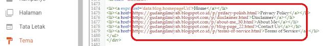 Cara membuat dan memasang menu navigasi pada blog