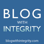 I blog with integrity