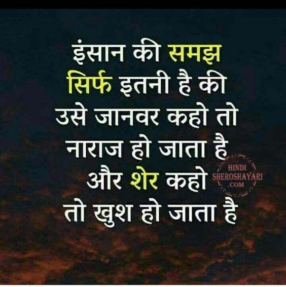 Insaan Ki Samajh Truth Of Life Quote in Hindi