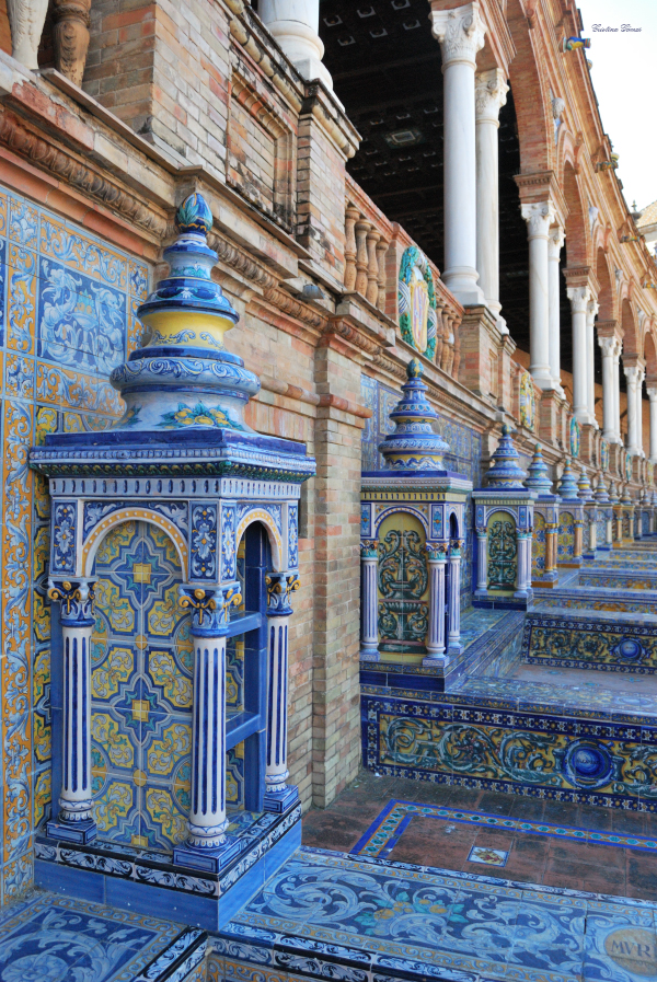 tiles plaza españa seville spain