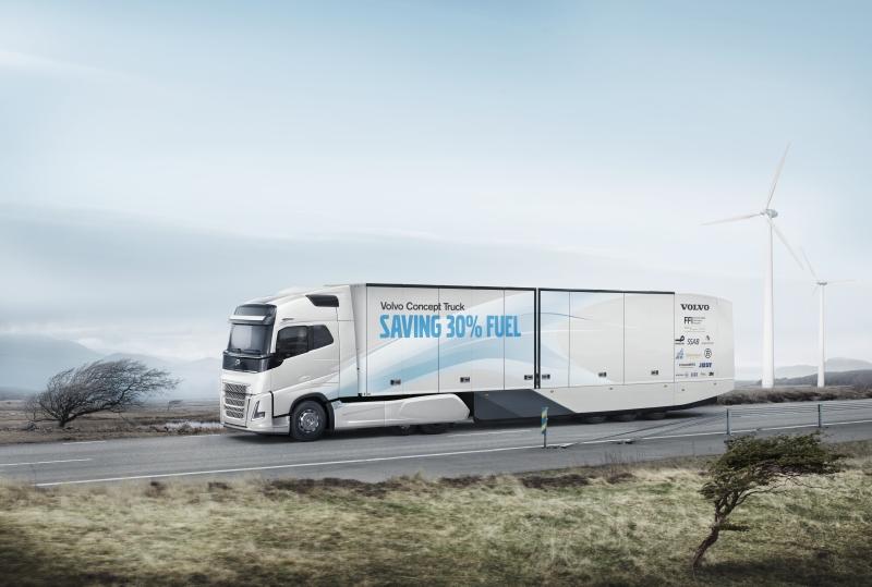Volvo unveils fuel efficient concept truck