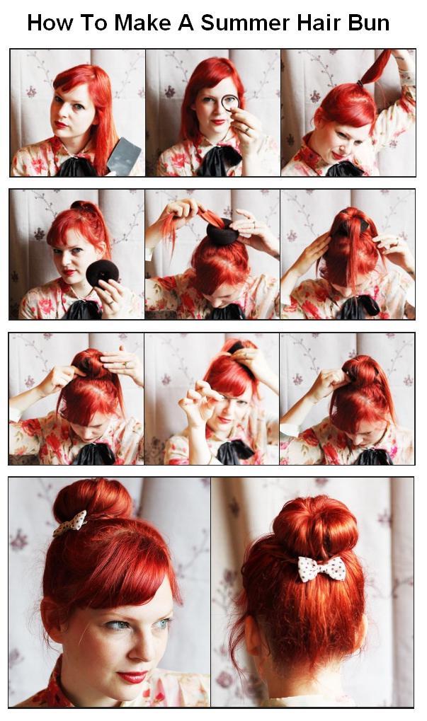 Surprising How To Make A Summer Hair Bun Fashion Celebrity Hairstyles Short Hairstyles For Black Women Fulllsitofus