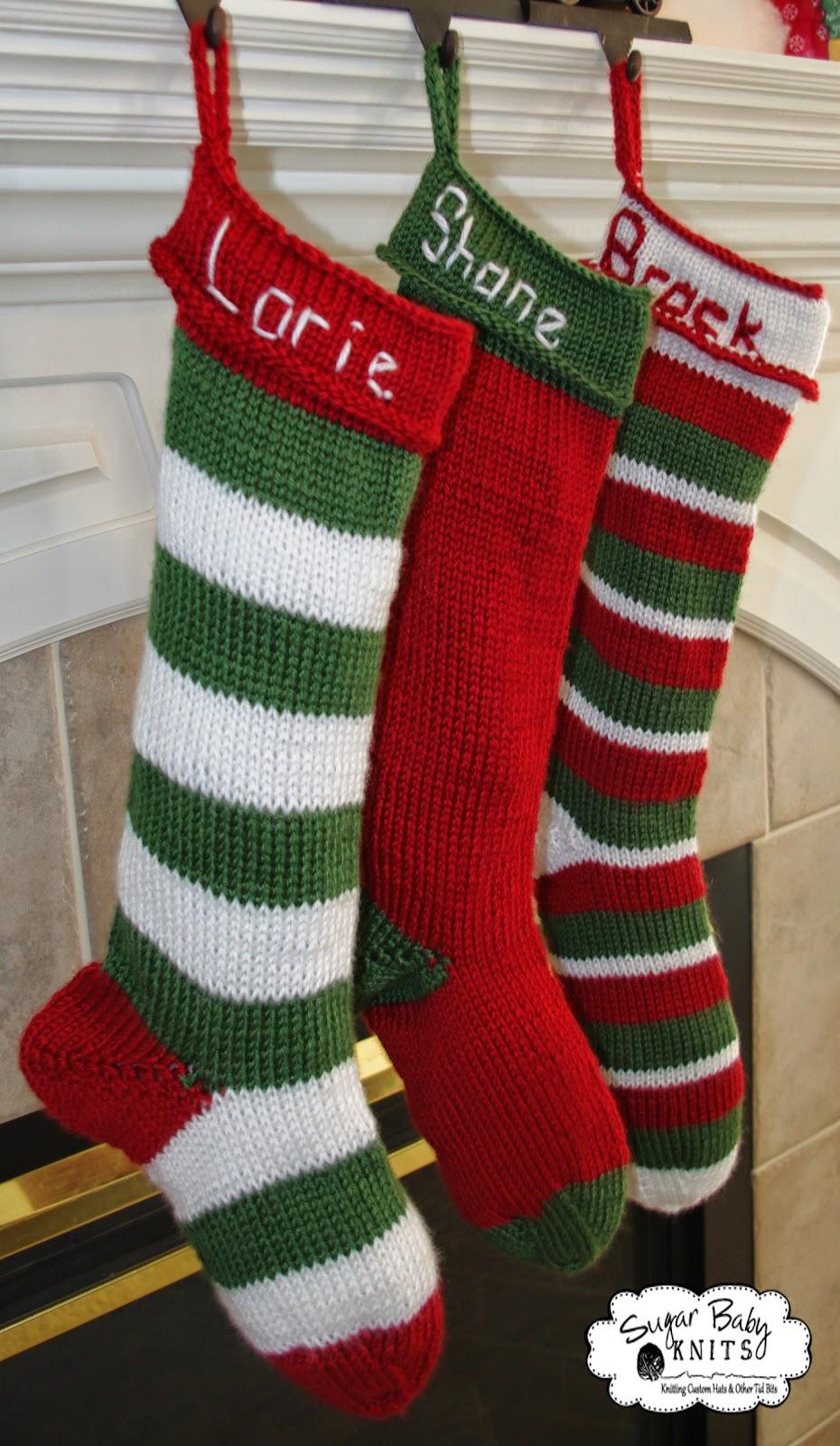 Sugar Baby Knits New Personalized Knit Stocking Pattern