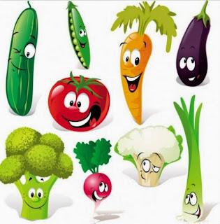rimas de las verduras para niños