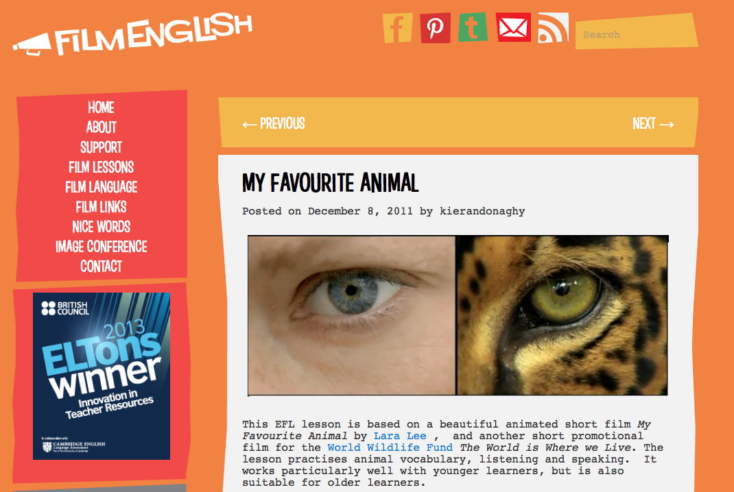 http://film-english.com/2011/12/08/my-favourite-animal/