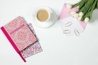 cahiers fleurs café