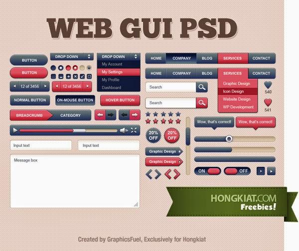 Web GUI Kit PSD