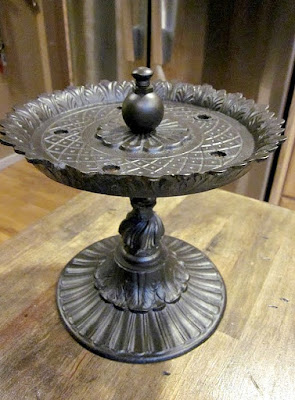 Upcycle a Lamp to Pedestal Dish