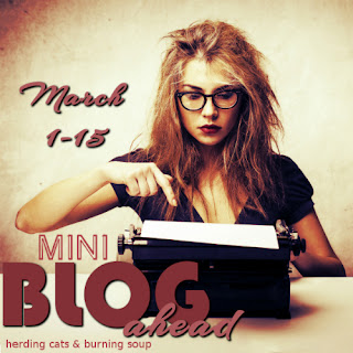 Since I have a long history of signing up for challenges and failing miserably, decided to keep my streak alive and sign up for the Mini Blog Ahead Challenge hosted by Herding Cats & Burning Soup!