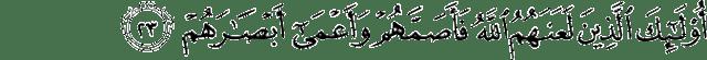 Surat Muhammad ayat 23