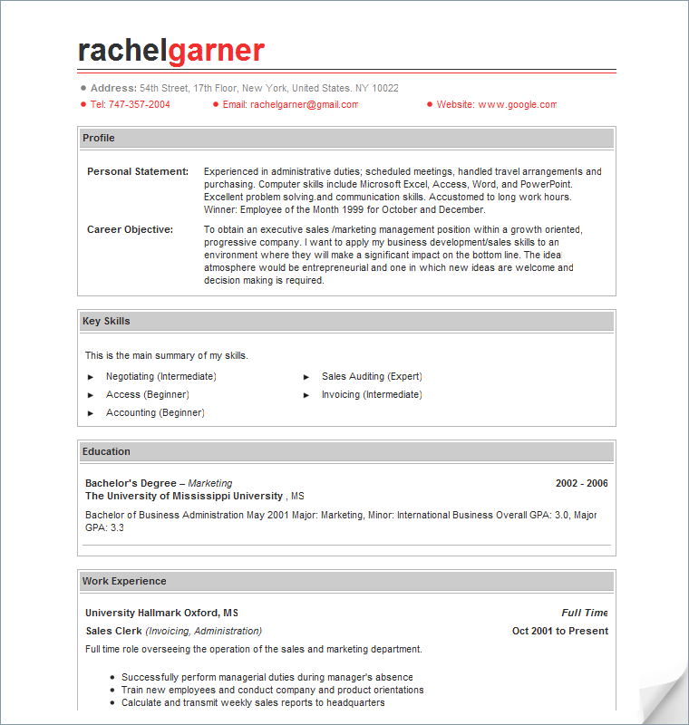 using free resume templates