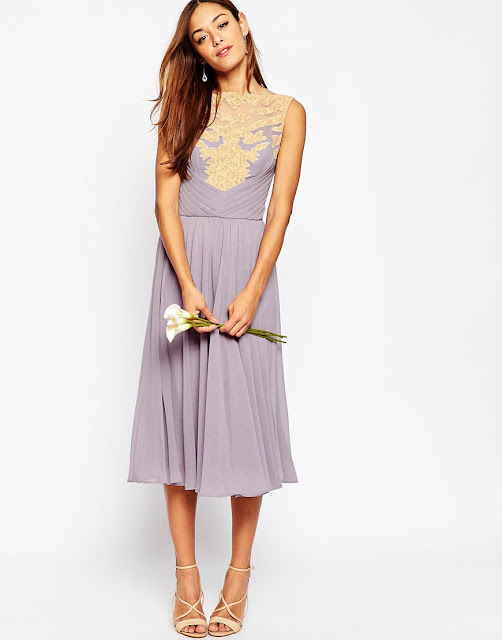 asos wedding lilac dress, lilac midi chiffon dress,