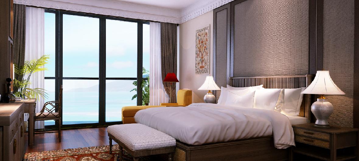 Phòng ngủ dự án Beau Rivage Trần Phú