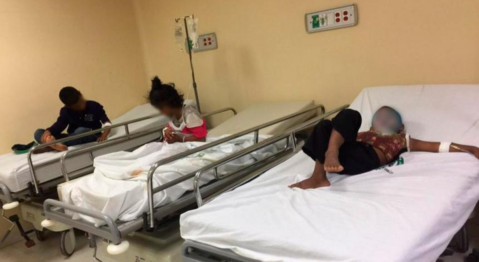 Menores infectados con Shigella