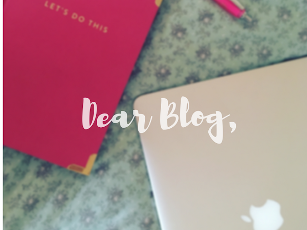 Dear blog, it's time to talk